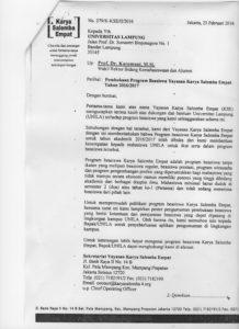 Pembukaan Program Beasiswa Yayasan Karya Salemba 4 Tahun 2016-2017 hal 2