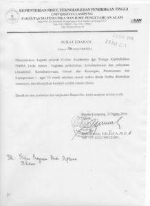 surat edaran fakultas